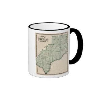 Map of Spencer County Ringer Mug