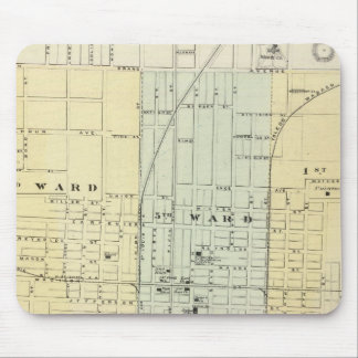 Map of Springfield City Mouse Pad