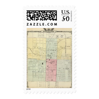 Map of Springfield City Postage