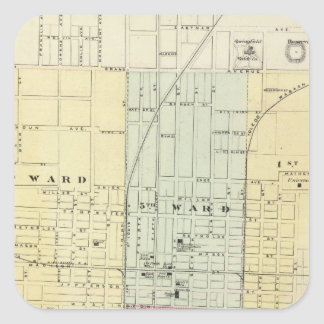 Map of Springfield City Square Sticker