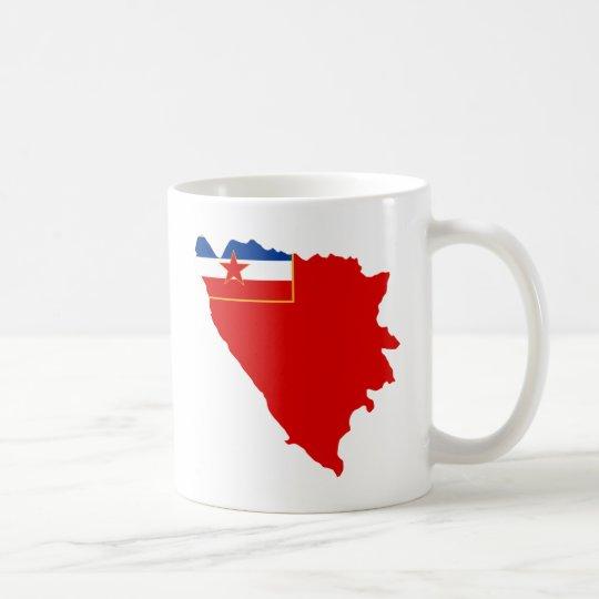 Map of SR Bosnia and Herzegovina 1945 Coffee Mug