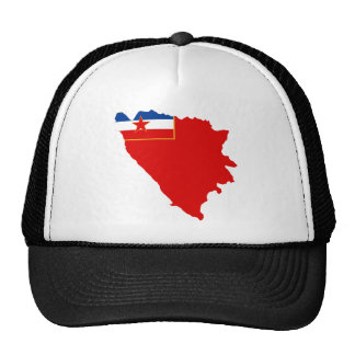 Map of SR Bosnia and Herzegovina 1945 Trucker Hat