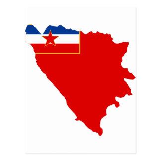 Map of SR Bosnia and Herzegovina 1945 Postcard