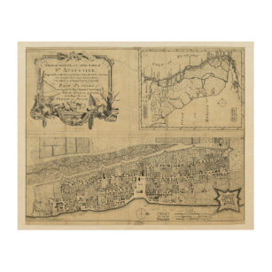 Vintage St Augustine Map Gifts on Zazzle