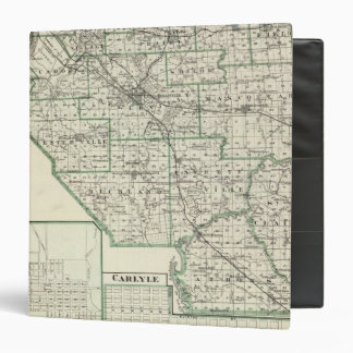 Map of St Clair County, Lebanon and Carlyle 3 Ring Binder