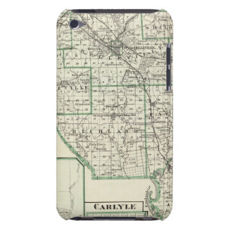 Map of St Clair County, Lebanon and Carlyle Barely There iPod Cover