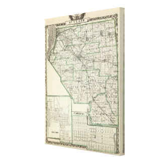Map of St Clair County, Lebanon and Carlyle Canvas Print