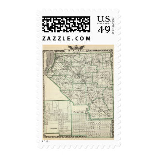 Map of St Clair County, Lebanon and Carlyle Postage