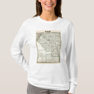 Map of St Clair County, Lebanon and Carlyle T-Shirt