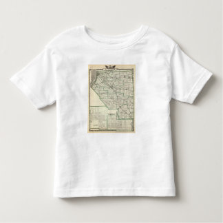 Map of St Clair County, Lebanon and Carlyle Toddler T-shirt