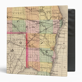 Map of St Clair County, Michigan 3 Ring Binder