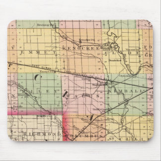 Map of St Clair County, Michigan Mouse Pad