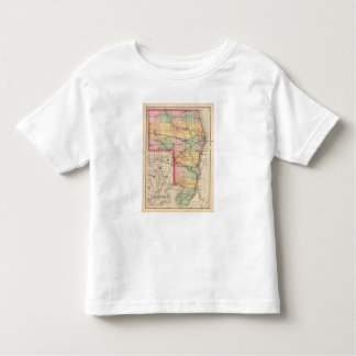Map of St Clair County, Michigan Toddler T-shirt