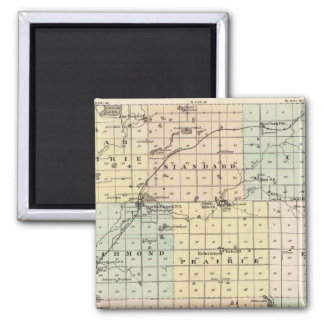 Map of St Croix County 2 Inch Square Magnet