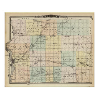 Map of St Croix County Poster