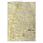 Map of St Louis City Greeting Cards
