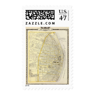 Map of St Louis City Postage