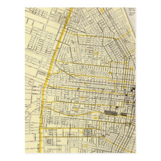 Map of St Louis City Postcard