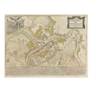 Map of St. Petersburg Russia, 1737 Postcard
