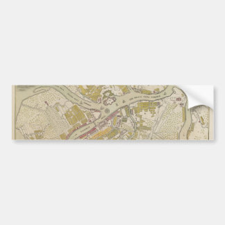 Map of St. Petersburg, Russia, created in 1737 Bumper Sticker