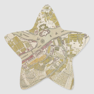 Map of St. Petersburg, Russia, created in 1737 Star Sticker