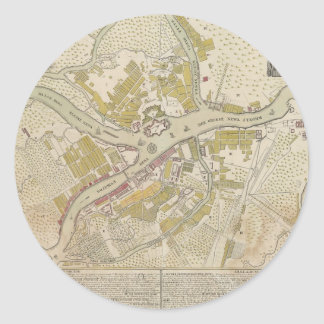 Map of St. Petersburg, Russia from 1737 Classic Round Sticker
