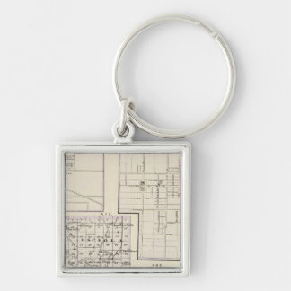 Map of Stark and west part of Marshall counties Keychain