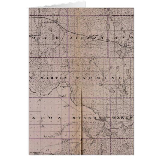 Map of Stearns County, Minnesota Card