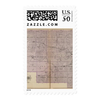 Map of Stearns County, Minnesota Postage