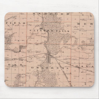 Map of Steele County, Minnesota Mouse Pad