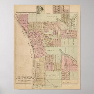 Map of Stillwater, Washington County, Minnesota Print