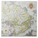 Map of Stockholm, Sweden Large Square Tile