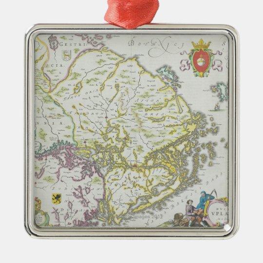 Map of Stockholm, Sweden Metal Ornament