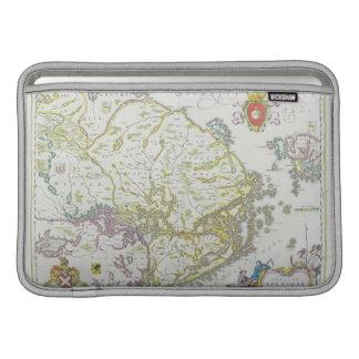 Map of Stockholm, Sweden Sleeve For MacBook Air