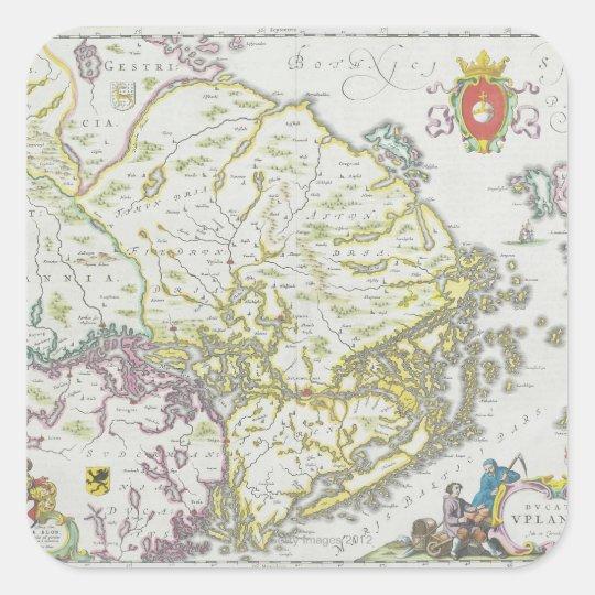 Map of Stockholm, Sweden Square Sticker