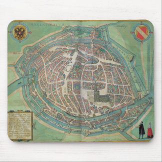 Map of Strasbourg, from 'Civitates Orbis Terrarum' Mouse Pad