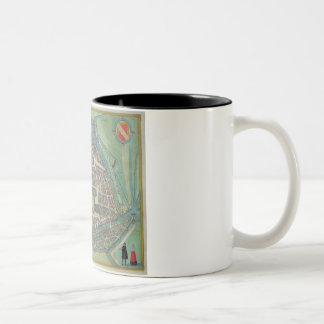 Map of Strasbourg, from 'Civitates Orbis Terrarum' Two-Tone Coffee Mug