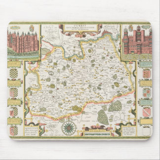 Map of Surrey, engraved by Jodocus Hondius Mouse Pad