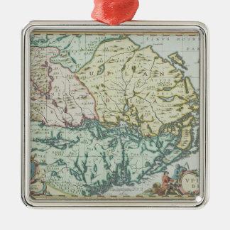 Map of Sweden Metal Ornament