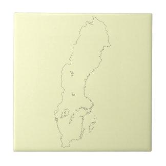 Map of Sweden Outline Ceramic Tiles