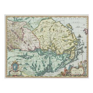 Map of Sweden Postcard