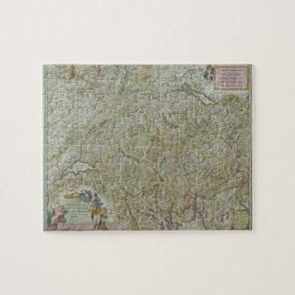 Map of Switzerland 2 Jigsaw Puzzle