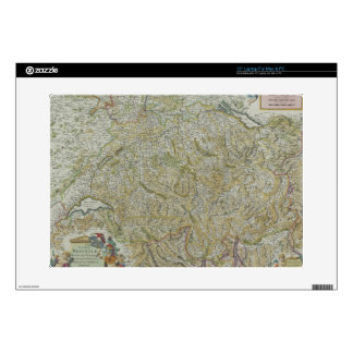 Map of Switzerland 2 Decals For Laptops