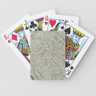 Map of Switzerland Bicycle Playing Cards