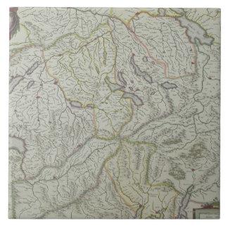 Map of Switzerland Ceramic Tile