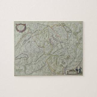 Map of Switzerland Jigsaw Puzzle