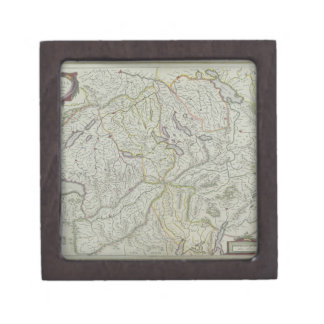 Map of Switzerland Keepsake Box