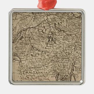 Map of Switzerland Metal Ornament