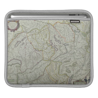 Map of Switzerland Sleeve For iPads