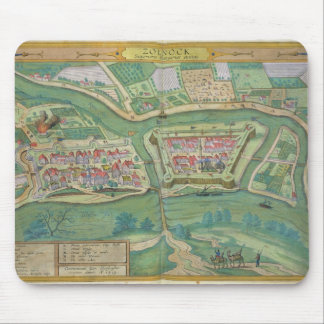 Map of Szolnok, from 'Civitates Orbis Terrarum' by Mouse Pad
